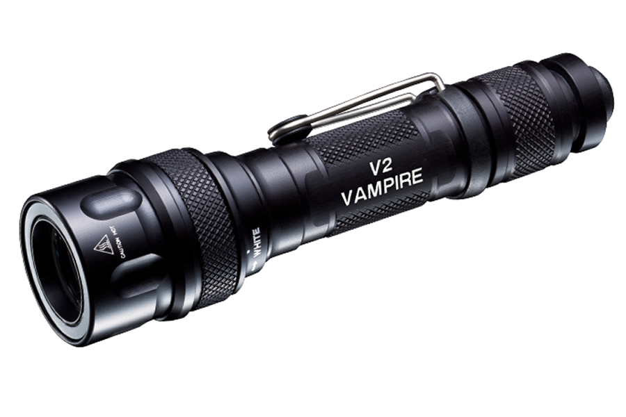 Surefire V2 Vampire LED/Infrared Light, Black. V2-BK