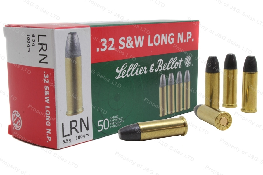 32 S&W Long S&B 100gr LRN Ammo, 50rd box.