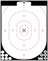 "BIRCHWOOD CASEY BLACK&WHITE SHOOT-N-C SPLATTERING TARGET 12""X18"""