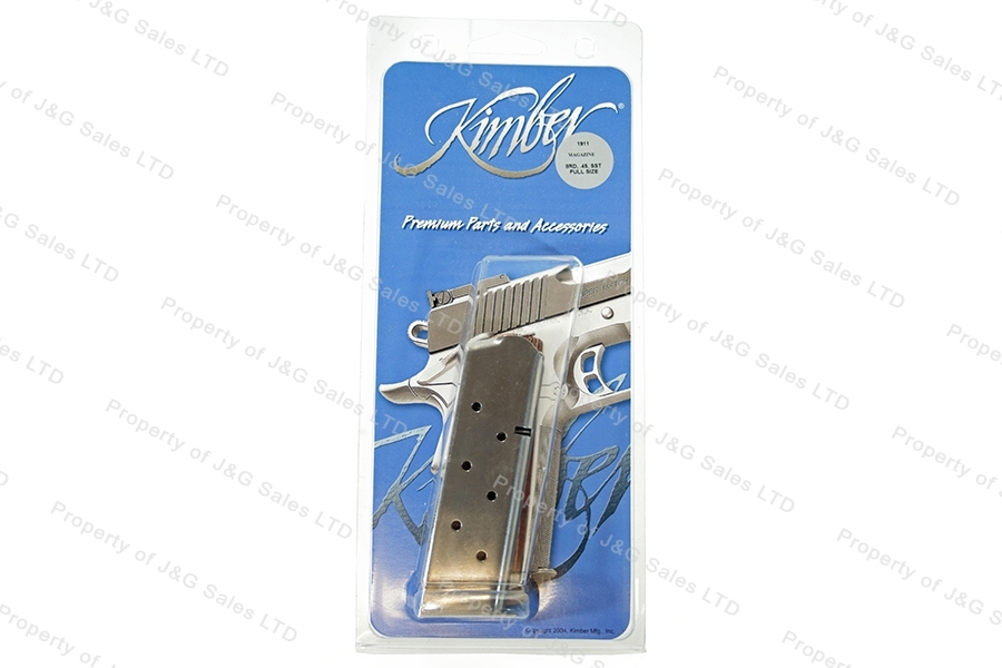 Kimber 1911 45ACP 8rd Factory Magazine, Stainless, New.