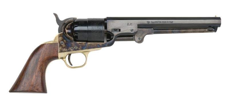 "TRADITIONS 1851 NAVY .44 CAL B.P. REVOLVER, 7.5"" BBL, CASE COLORED/BLUED"