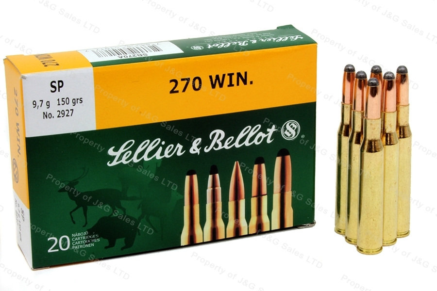 270 Win S&B SP Ammo, 20rd box.