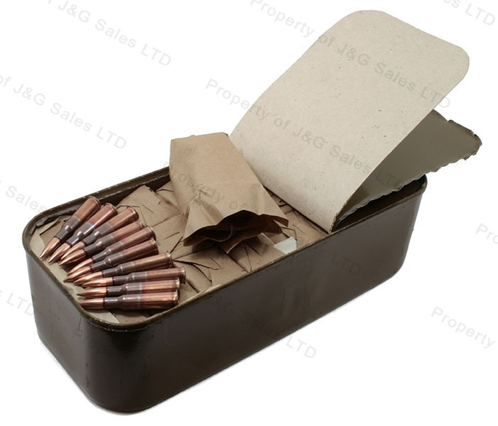 7.62x54R Comm-Bloc Light Ball FMJ Ammo, Steel Core, 440rd Tin.
