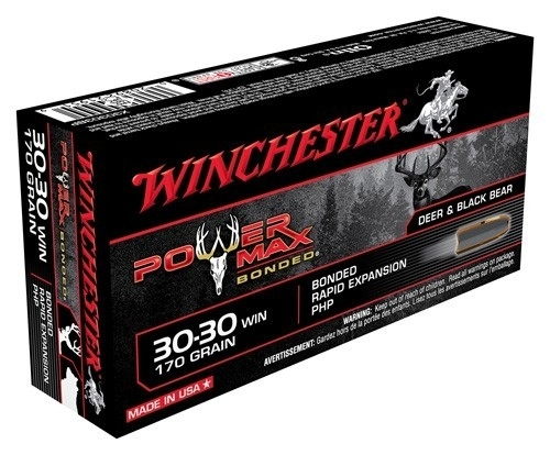 30-30 WIN WINCHESTER AMMO POWER MAX, 170GR BONDED HP, 20RD BOX