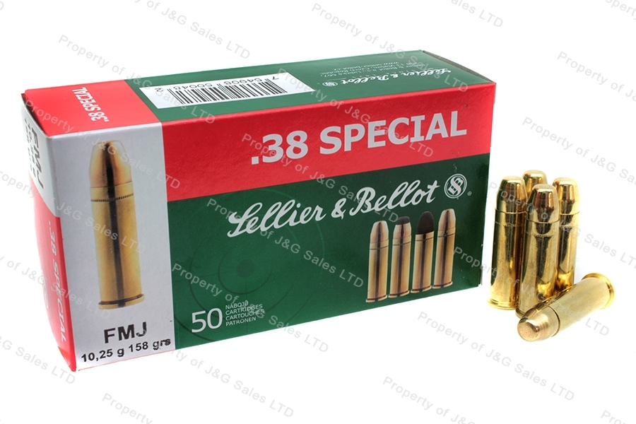 38 Special S&B 158gr FMJ Ammo, 50rd box.