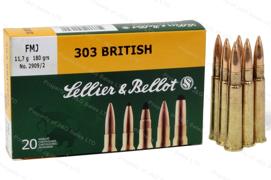 303 British S&B 180gr FMJ Ammo, 20rd Box.