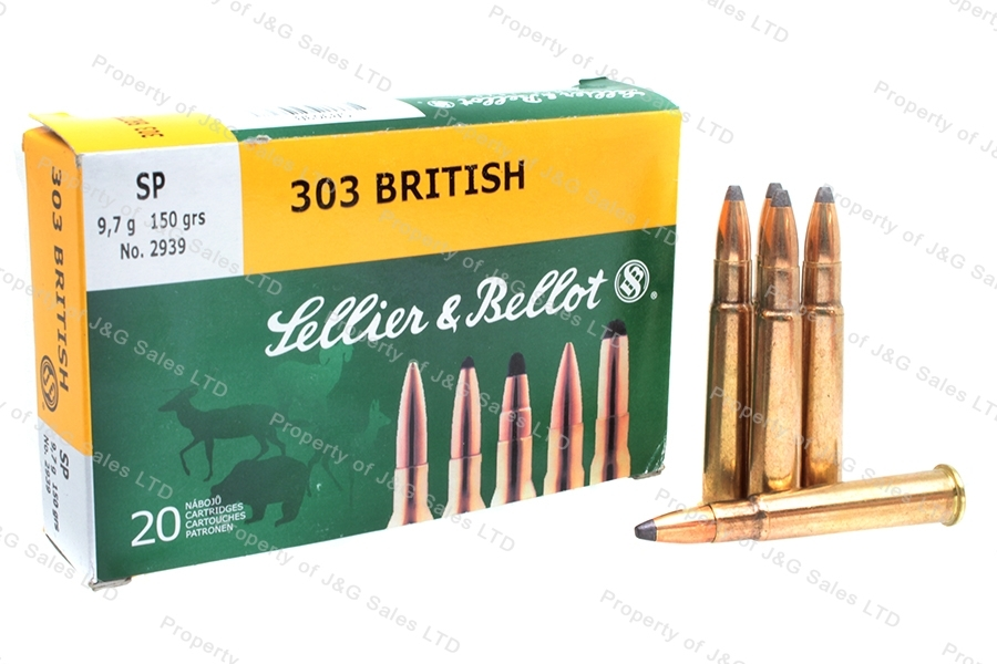 303 British S&B 150gr SP Ammo, 20rd Box.