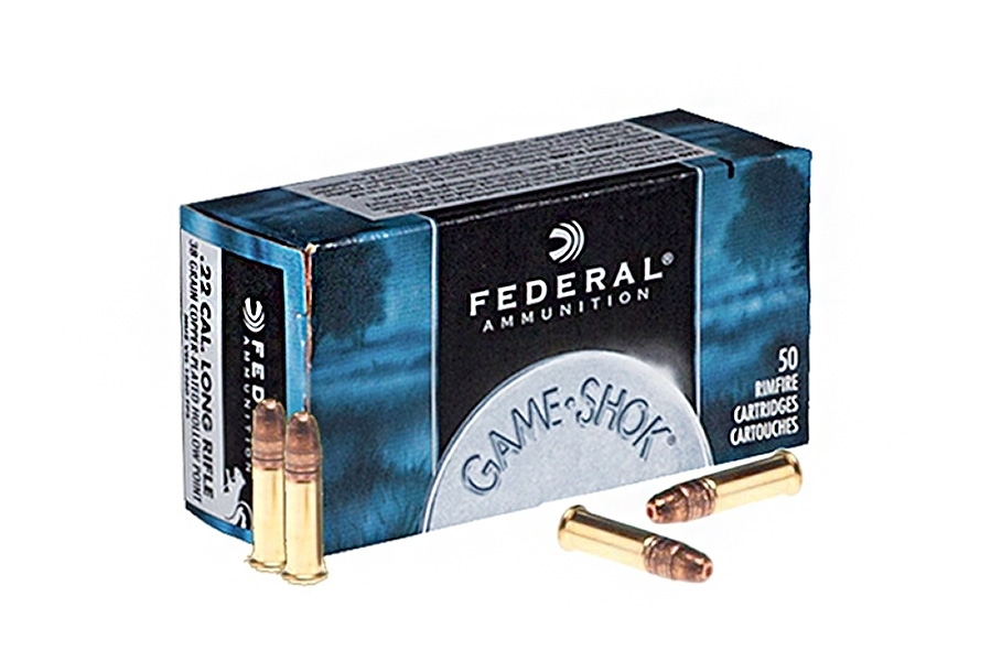22LR Federal 38gr Copper Plated HP Ammo, 50rd Box. 712