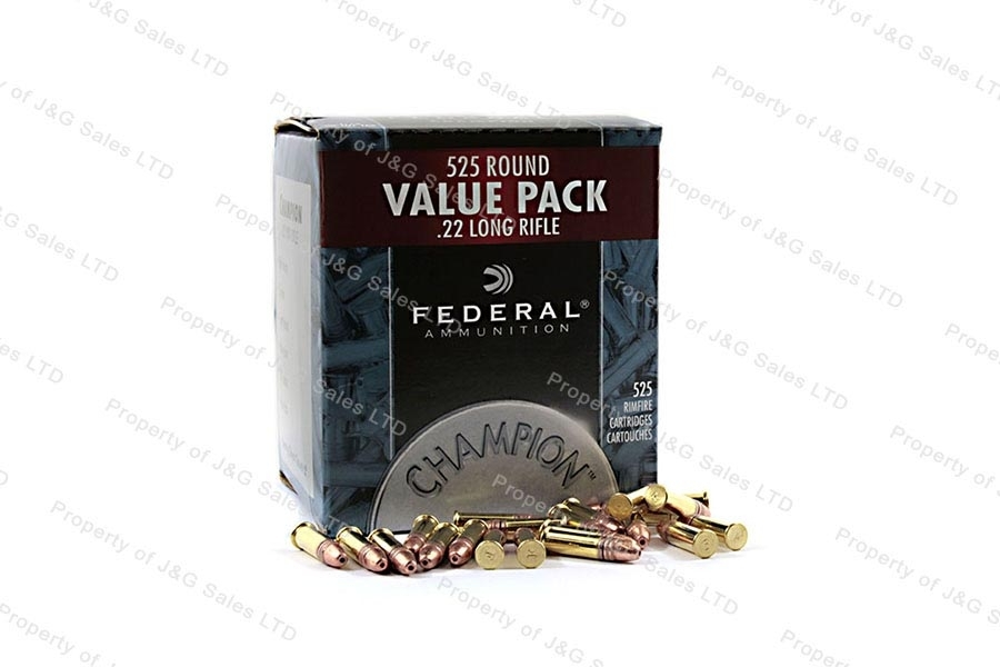 22LR Federal 36gr Copper Plated HP Ammo, 525rd Carton.