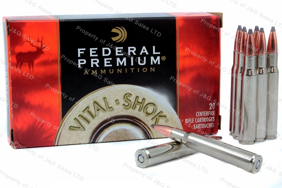 270 Win Federal Premium 150gr Nosler Partition Vital-Shok, 20rd box. P270E