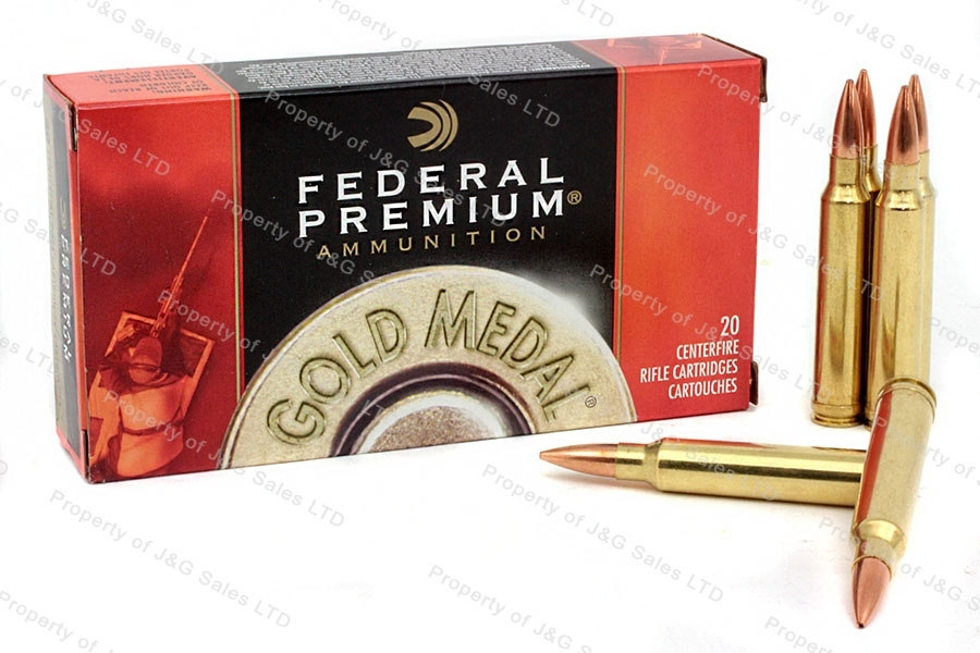 300 Win Mag Federal Gold Medal, 20rd Box, 190gr Sierra Matchking BTHP Ammo. GM300WM