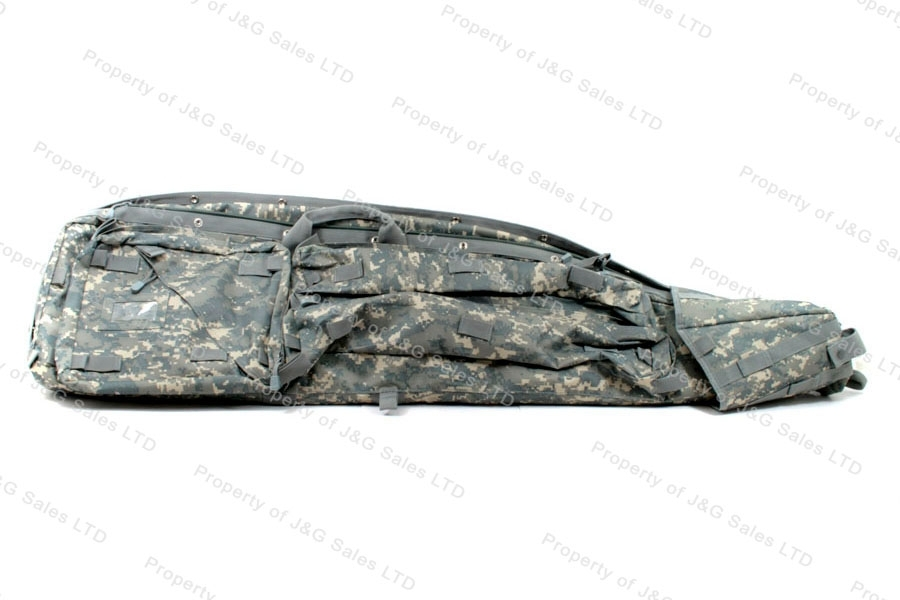 VISM Drag Bag Rifle Case, Digital Camo, Holds Two Rifles, New.