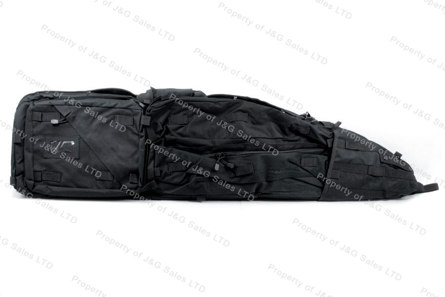 VISM Drag Bag Rifle Case, Black, Holds Two Rifles, New.