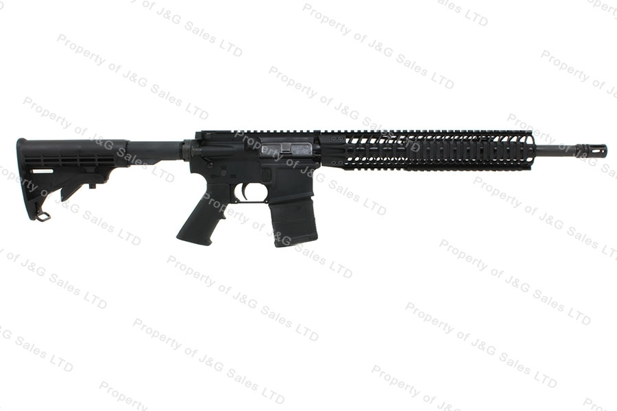 "Spikes Tactical ST15 Mid Length AR Carbine, 5.56mm/223, with BAR Quad Rail and 16"" Barrel, New."