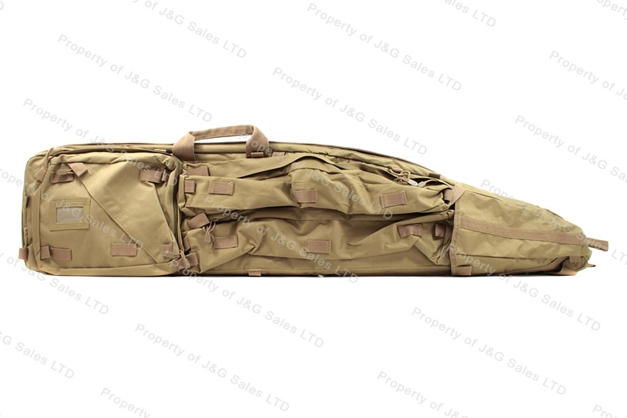 VISM Drag Bag Rifle Case, Tan, Holds Two Rifles, New.