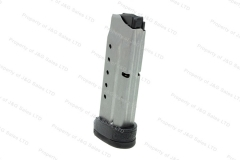 S&W M&P Shield 40S&W 7rd Factory Magazine, with Grip Extension, Stainless, New.
