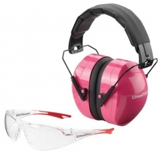 CHAMPION EYES AND EARS COMBO, PINK & BLACK