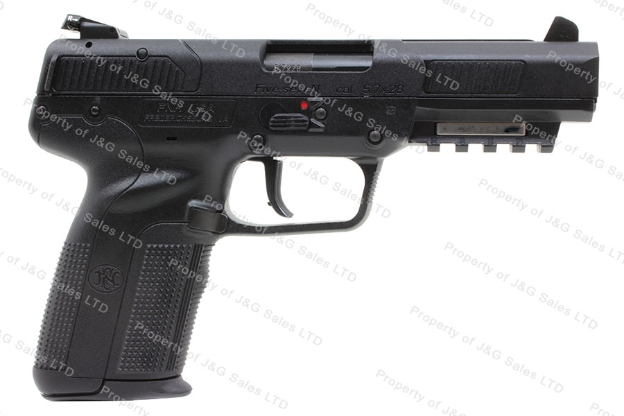 "FNH Five Seven MKII Semi Auto Pistol, 5.7x28mm, 4.8"" Barrel, Black, 3 Mags, New."