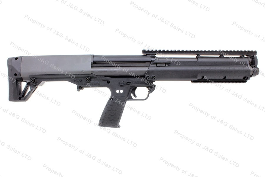 Kel Tec KSG Pump Action Shotgun, 12ga, Dual Mag Tube Bullpup, Black, New.