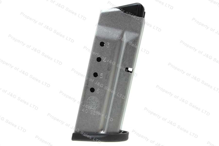 S&W M&P Shield 40S&W 6rd Factory Magazine, Stainless, New.
