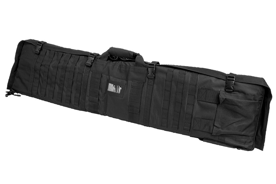 Shooting Mat and Rifle Case Combo, Tactical Rifle Case Unfolds Into Shooting Mat, By VISM, Black.