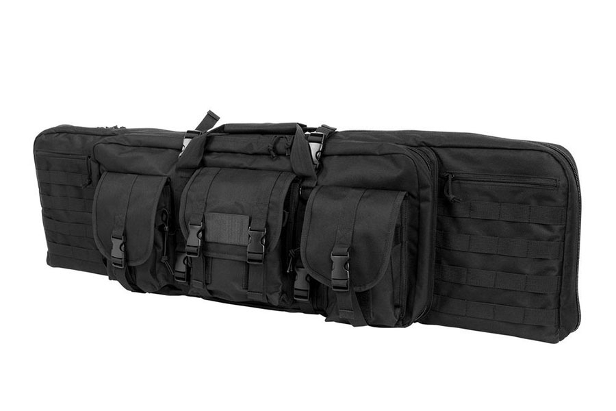 VISM Tactical Double Carbine Case, Black, Holds Two Rifles, New.