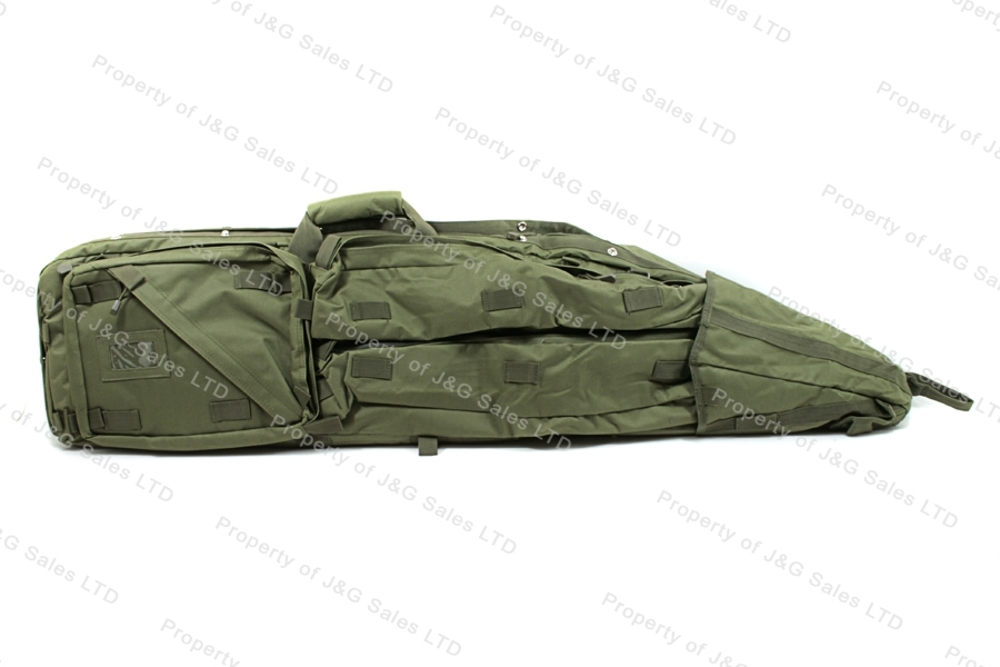 VISM Drag Bag Rifle Case, Green, Holds Two Rifles, New.