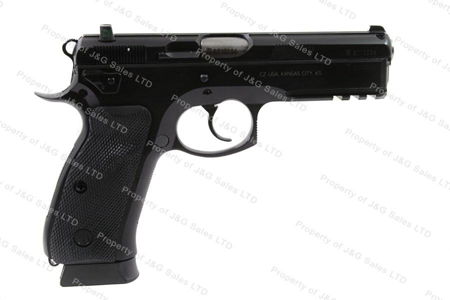 CZ 75 SP01 Tactical Semi Auto Pistol, 9mm, Full Length Front Rail, Decocker, 18rd Magazine, New. Icon