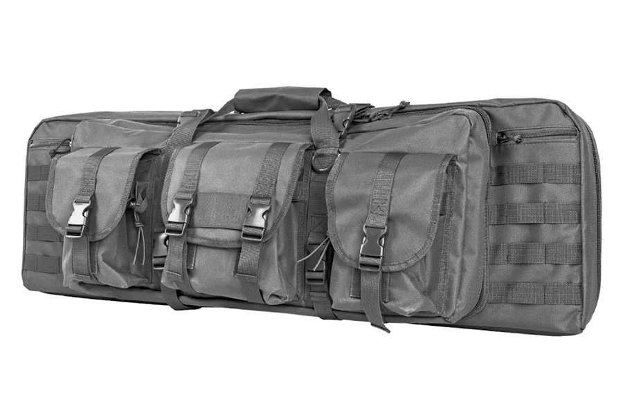 VISM Tactical Double Carbine Case, Urban Gray, Holds Two Rifles, New.