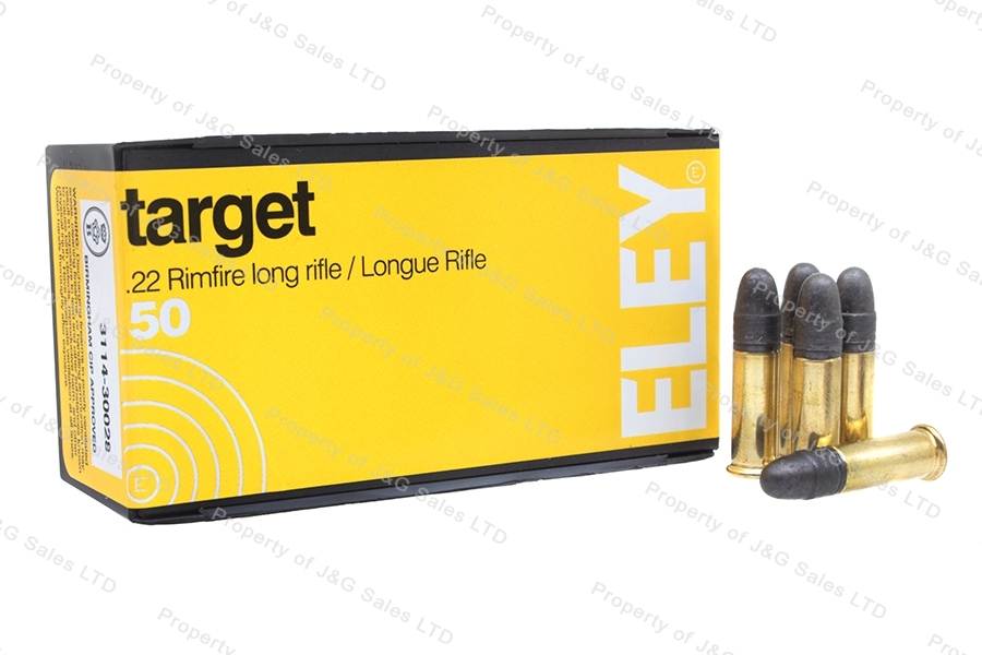 22LR Eley Target 40gr Lead Round Nose Ammo, 500rd Brick.