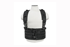 Chest Rig for AR-15 mags, with suspender style shoulder straps, by VISM. Black. New.