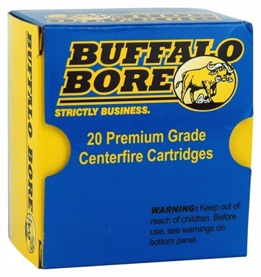 38 SUPER BUFFALO BORE AMMO +P, 1150FPS 147GR JHP, 20RD BOX