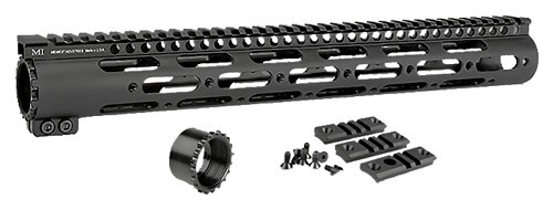"MIDWEST INDUSTRIES DPMS 308/7.62 SS FREE-FLOAT HANDGUARD, 15"" RIFLE LENGTH, BLACK"