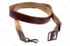 Military Leather AK Sling, Romanian with Clips, Brown Leather, VG.