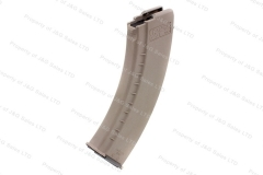 Tapco AK-47 7.62X39 30rd Magazine, Polymer, Tan Flat Dark Earth, Smooth, New.