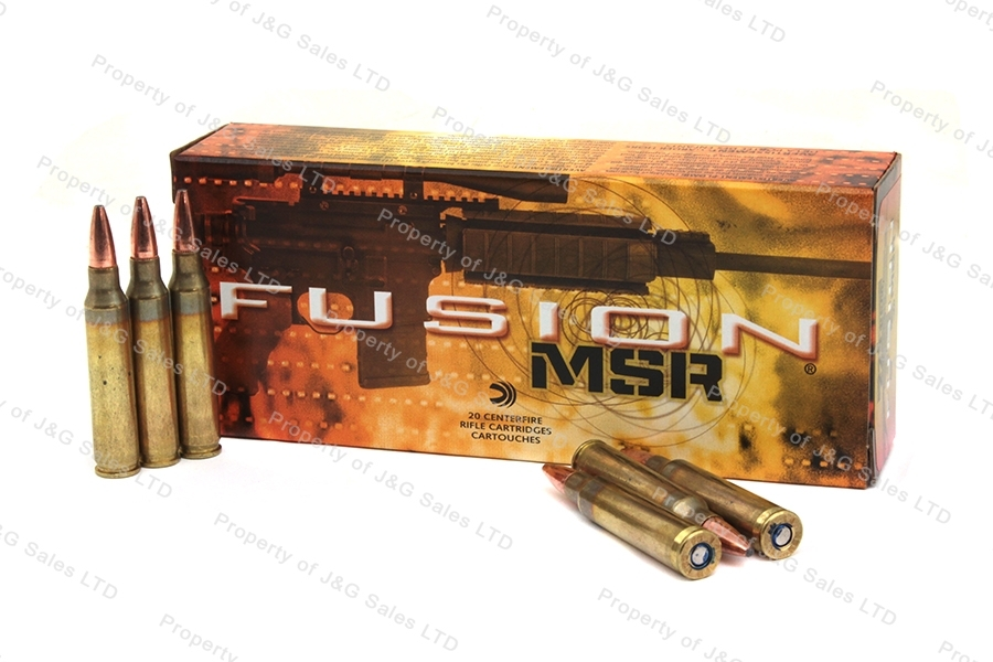 223 Rem Federal Fusion MSR Ammo, 200rd Case, 62gr Soft Point, F223MSR1