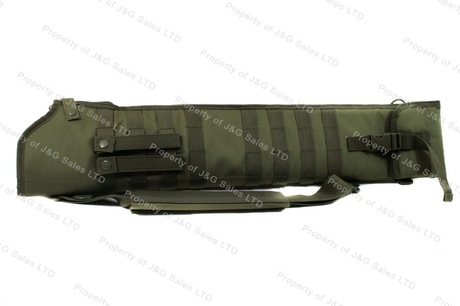 VISM Shotgun Scabbard case, Tactical Nylon, Green, New.