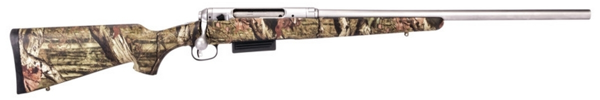 "SAVAGE 220 CAMO SLUG GUN BOLT ACTION SHOTGUN, 3"" 20GA, 22"" RIFLED BBL, 2RD MAG, STAINLESS, NEW"