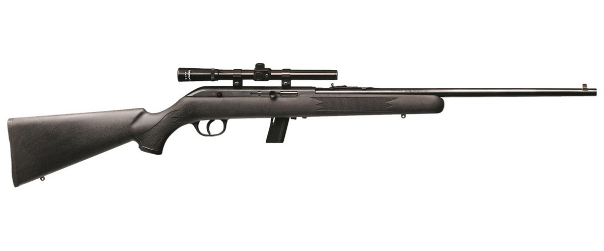 "SAVAGE 64FXP SEMI-AUTO RIFLE W/4X15MM SCOPE, .22LR, 21"" BBL, 10RD MAG, BLUED, NEW"