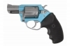 "CHARTER ARMS SANTA FE SKY DA/SA REVOLVER, .38SPL+P, 2"" BBL, TURQUOISE/STAINLESS, NEW"