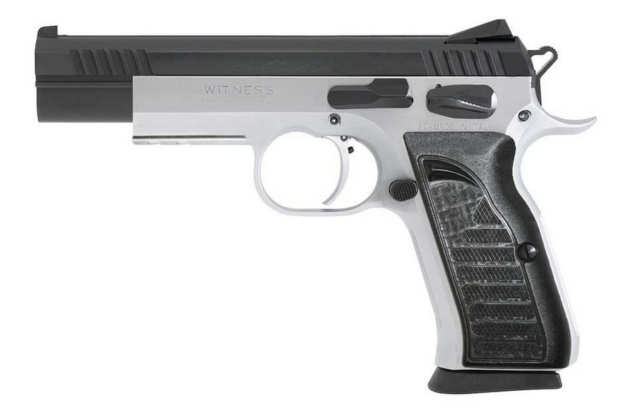 "EAA WITNESS ELITE MATCH SA SEMI-AUTO PISTOL, .40 S&W, 4.75"" BBL, 14RD MAG, TWO-TONE, NEW"