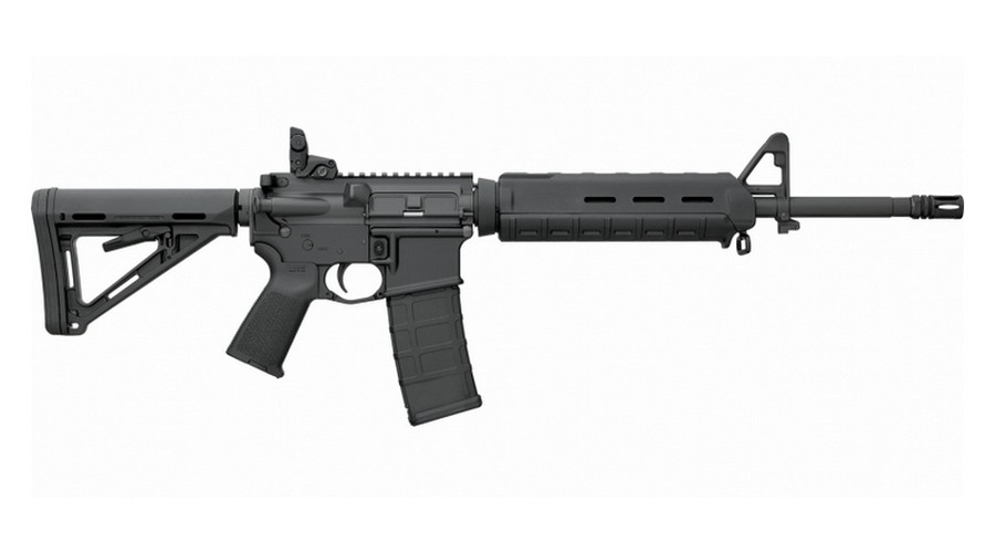 "BUSHMASTER MOE MIDLENGTH FLAT-TOP SEMI-AUTO CARBINE, .223 (5.56 NATO), 16"" HVY BBL, 30RD MAG, MOE STOCK, BLACK, NEW"