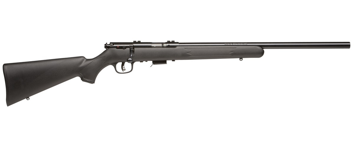 "SAVAGE 93 FV BOLT ACTION RIFLE, .22WMR (.22 MAG), 21"" HVY TGT BBL, 5RD MAG, BLUED, NEW"