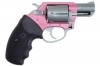 "CHARTER ARMS SOUTHPAW DA/SA REVOLVER, .38SPL+P, 2"" BBL, PINK/STAINLESS, NEW"