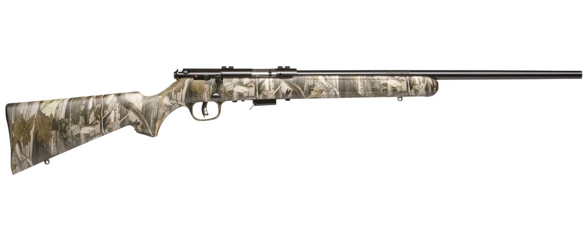 "SAVAGE 93R17 CAMO BOLT ACTION RIFLE, .17HMR, 21"" BBL, 5RD MAG, BLUED, NEW"