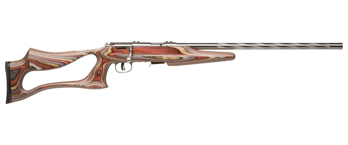 "SAVAGE 93R17 BSEV BOLT ACTION RIFLE, .17HMR, 21"" HVY BBL, 5RD MAG, STAINLESS, NEW"