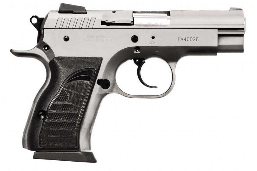 "EAA WITNESS COMPACT DA/SA SEMI-AUTO PISTOL, 9MM, 3.6"" BBL, 14RD MAG, STAINLESS, NEW"