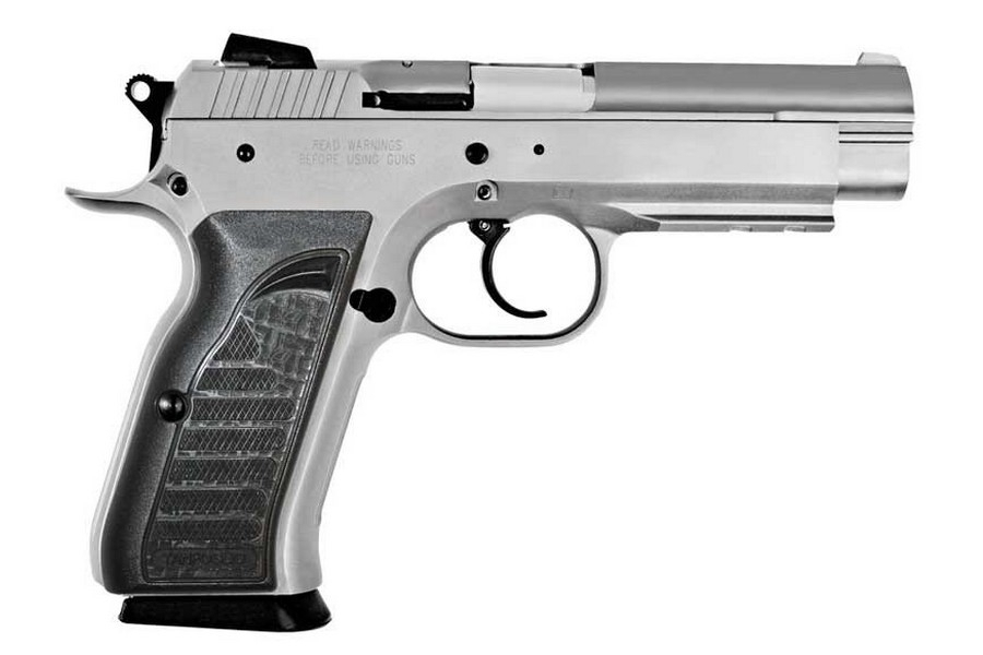 "EAA WITNESS DA/SA SEMI-AUTO PISTOL, 9MM, 4.5"" BBL, 17RD MAG, ACCY RAIL, CHROME, NEW"