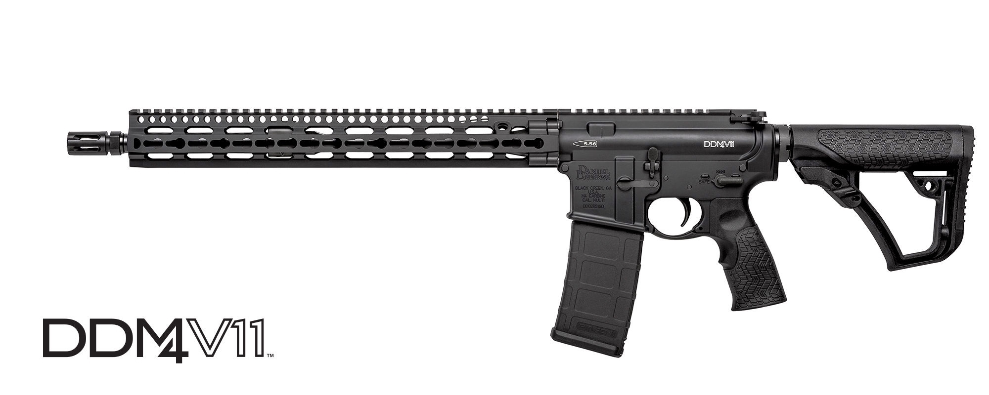 "DANIEL DEFENSE M4 V11 SEMI-AUTO CARBINE, 223 (5.56MM NATO), 16"" BBL, BLACK, NEW"