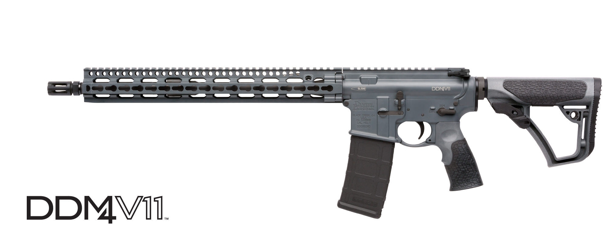 "DANIEL DEFENSE M4 V11 SEMI-AUTO CARBINE, 223 (5.56MM NATO), 16"" BBL, TORNADO GREY, NEW"